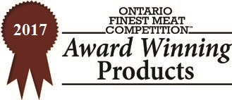 Ontario Finest Meat Competition Award Winning Product 2017