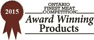 Ontario Finest Meat Competition Award Winning Product 2015