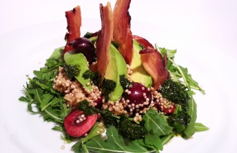 Double Smoked Bacon, Quinoa, Avocado & Balsamic Cherry Salad