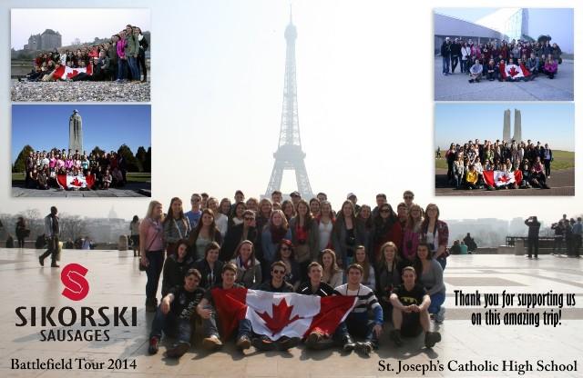 st josephs catholic high school europe trip 2014