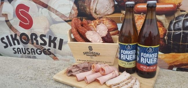 Beer and Sausages with Forked River Brewing!