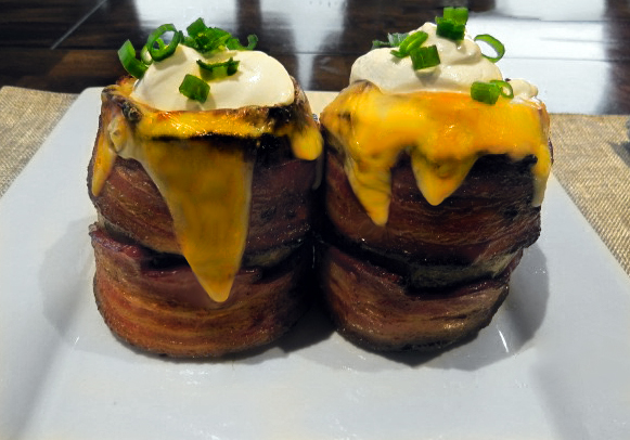 Bacon Wrapped Loaded Potato