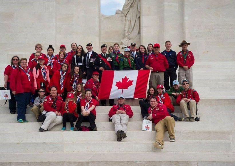 Scouts Canada Vimy Trip