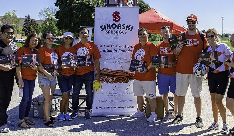 Sikorski Sausages with MS Bike Canada!